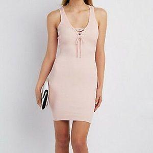Charlotte Russe, Light pink lace up, dress, Sz XL